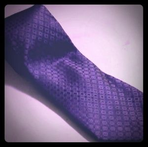 """Calvin Klein. Purple Silk Necktie 60"""""""